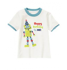 Happy Birthday Robot Tee Gymboree