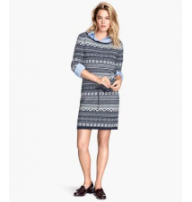 Jacquard-knit Dress H&M