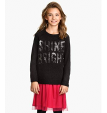 Sequin-embroidered Sweater H&M