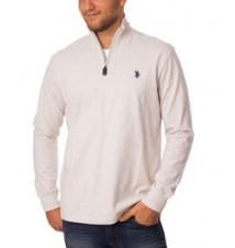Jersey 1/4 Zip Mock Neck Sweatshirt