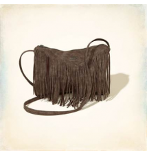 Faux Leather Fringe Duffle Bag Hollister