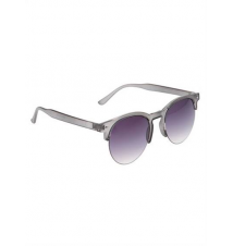 Grey Frost Wire Rim Sunglasses Hot Topic