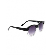 Black & Clear Round Frame Sunglasses Hot Topic