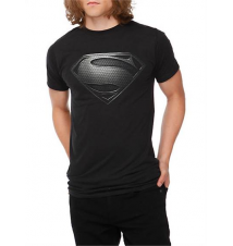DC Comics Superman Man Of Steel Silver Logo T-Shirt Hot Topic