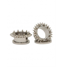 Steel CZ Outer Spike Spool Plug 2 Pack Hot Topic