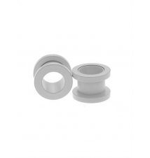 Steel White Matte Spool Plugs 2 Pack Hot Topic