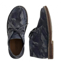 Kids' suede MacAlister boots in camo J Crew