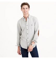Heathered chamois elbow-patch shirt J Crew