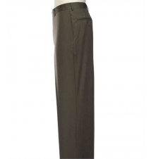 Executive Plain Front Herringbone Trousers Sizes 44-48 JoS. A. Bank