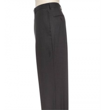 Business Express Plain Front Trousers- Charcoal Grey JoS. A. Bank