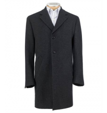 3/4 Traveler Tailored Fit Mini Box Topcoat Extended Sizes JoS. A. Bank