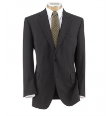 Executive 2-Button Wool Suit with Pleated Trousers Extended Sizes JoS. A. Bank