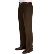 Executive Wool Gabardine Pleated Front Trouser Extended Sizes JoS. A. Bank