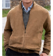 Signature Raglan Sleeve Goatsuede Jacket JoS. A. Bank