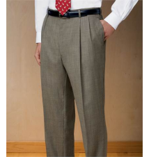 Executive Wool Pleated Front Tic Weave Trousers JoS. A. Bank