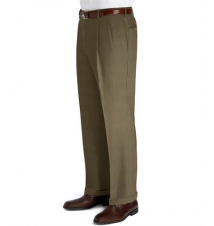 Executive Patterned Wool Trousers- Pleated Front JoS. A. Bank