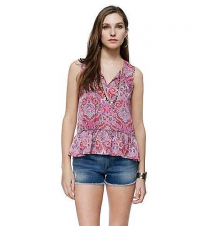 Deco Paisley Top Juicy Couture