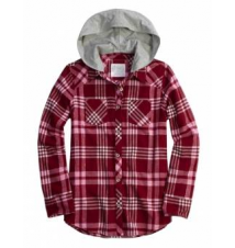 Hooded Plaid Shirt Justice