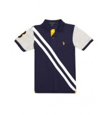 Boys Diagonal Stripe Polo Shirt