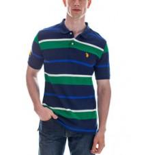 Small Logo Striped Polo Shirt