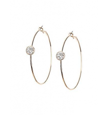 Stone accent hoop earrings by Lane Bryant Lane Bryant