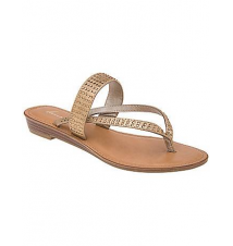 Embellished two strap sandal Lane Bryant