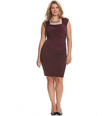 Control Tech slimming ruched dress Lane Bryant
