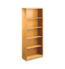 OfficeMax Premium Light Cherry 5-Shelf Bookcase OfficeMax