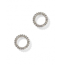 Pave Glass-Accent Circular Post Earring New York & Company
