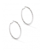 Textured Hoop Earring New York..