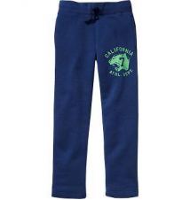 Boys Graphic Fleece Slim-Fit Pants Old Navy