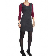 Women's Color-Block Sweater Dresses Old Navy