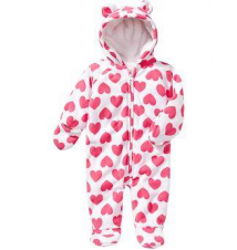 Micro Performance Fleece Hooded One-Pieces for Baby Old Navy