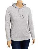 Women's Plus Pullover Tee Hood..