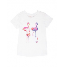 Girls 2‑6 Flamingos Tee Roxy
