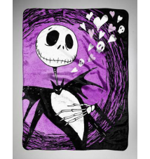 Nightmare Before Christmas Jack Hearts Fleece Blanket Spencer's