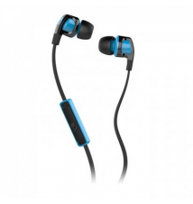 Skullcandy Smokin' Bud 2 Earbuds with Mic - Black / Hot Blue Sport Chalet