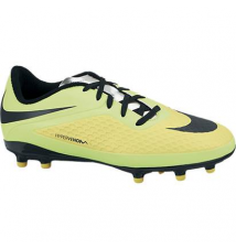 Nike Junior Hypervenom Phelon Firm-Ground Soccer Cleat - Vibrant Yellow/Metallic Silver Volt/Ice/Black Sport Chalet