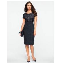 Plaid & Sparkle Tweed Dress Talbots