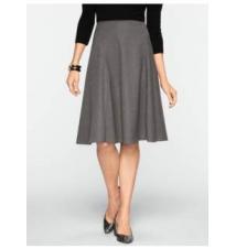 Italian Flannel Modern Flared Skirt Talbots