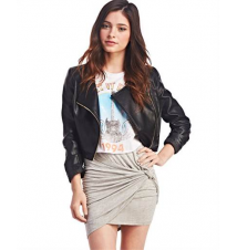 Twisted & Rouched Mini Skirt The Wet Seal