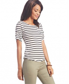 Must-Have Striped Tab-Sleeve T..
