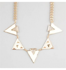 FULL TILT Geo Triangle Epoxy Statement Necklace Tilly's