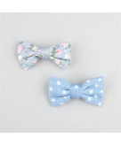 FULL TILT Dot/Floral Denim Bow..