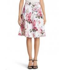 Floral Jacquard Skirt White House/Black Market