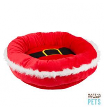 Martha Stewart Pets Santa Belt Dog Bed PetSmart