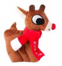 Rudolph The Red-Nosed Reindeer Flat Dog Toy PetSmart
