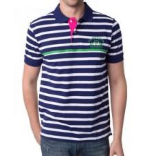 USPA Patch Stripe Polo Shirt