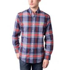 Large Plaid Roll-Up Shirt