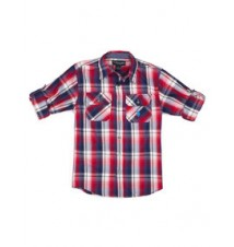 Boys Long Sleeve Plaid Shirt